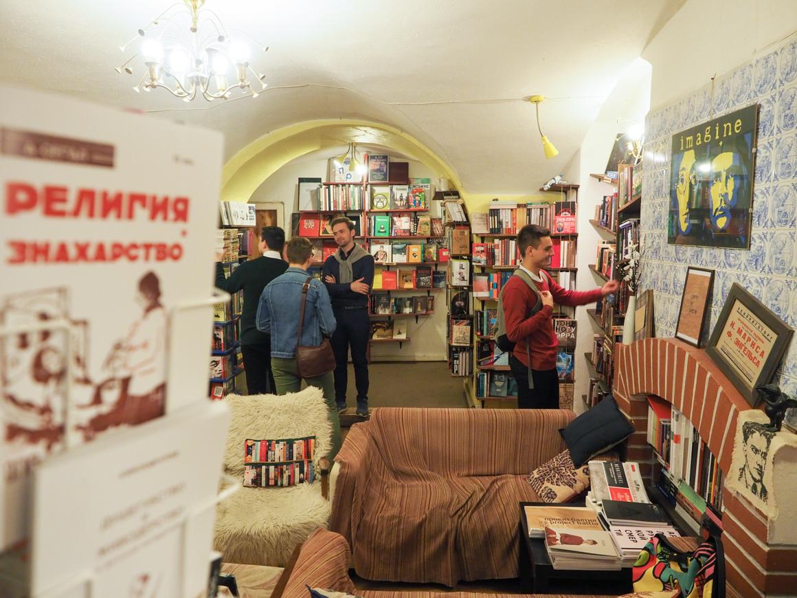 At the bookshop. Source: Ruslan Shamukov