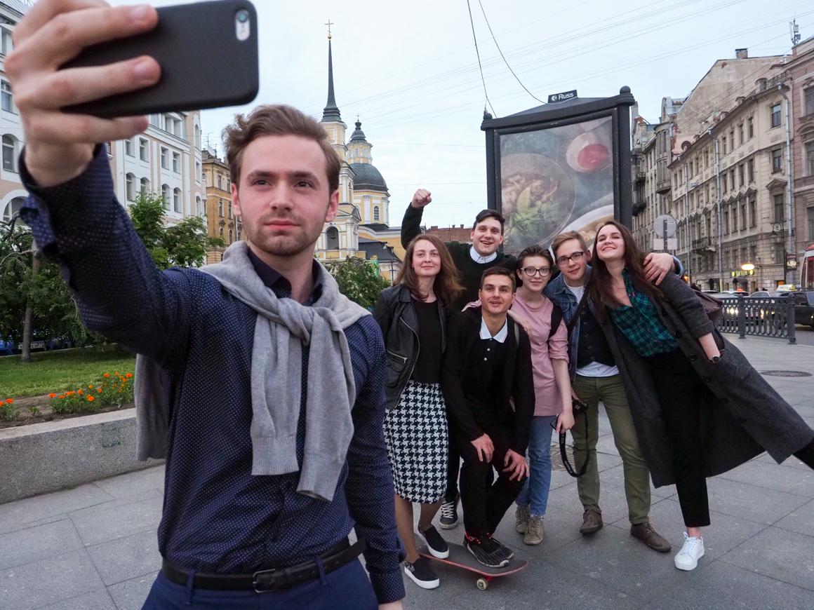 Vlad with friends. Source: Ruslan Shamukov