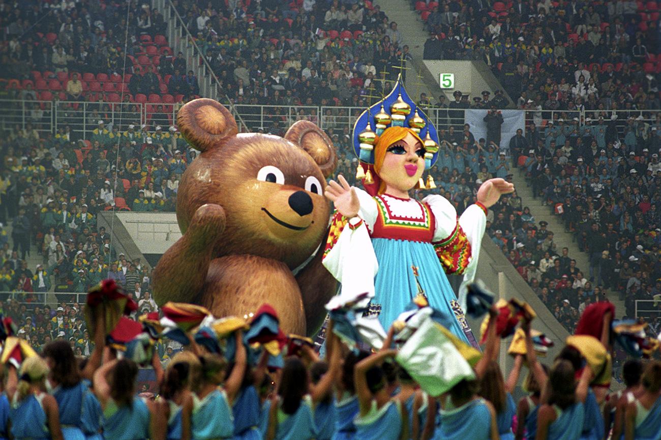 Cerimônia de abertura dos 1º Jogos da Juventude contou com urso Micha