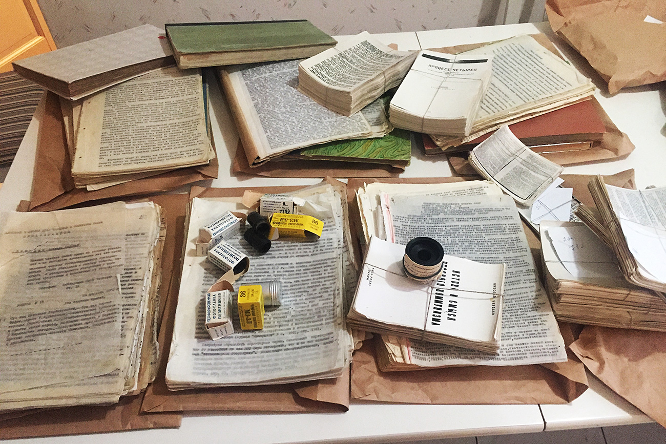 Russian samizdat and photo negatives of unofficial literature in the USSR