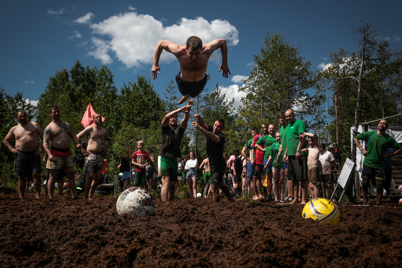 "So often these days we see football players rolling around on the grass, feigning an injury after receiving the lightest of nudges from an opposition player. It's pathetic! So thank God for the Finns, who have invented a dirty, muddy, filthy, soaking wet version of the ""beautiful game."""