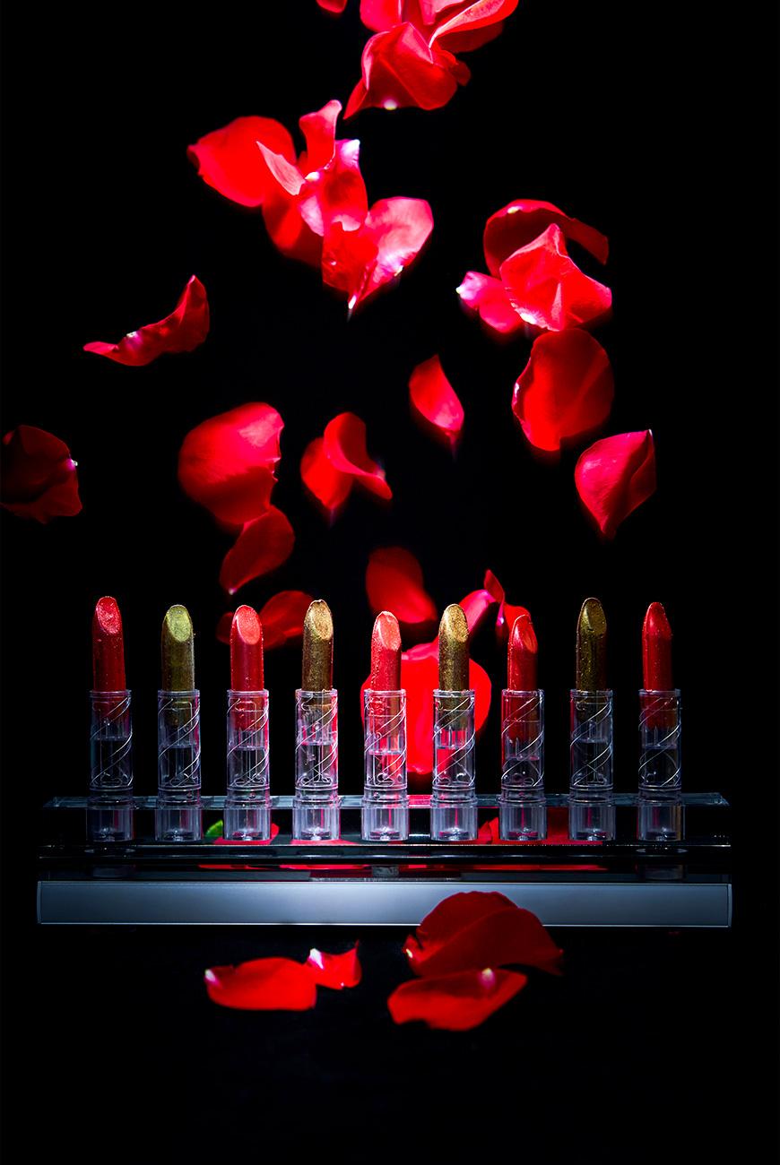 Essbarer Lippenstift, Erdbeeren und Schokolade