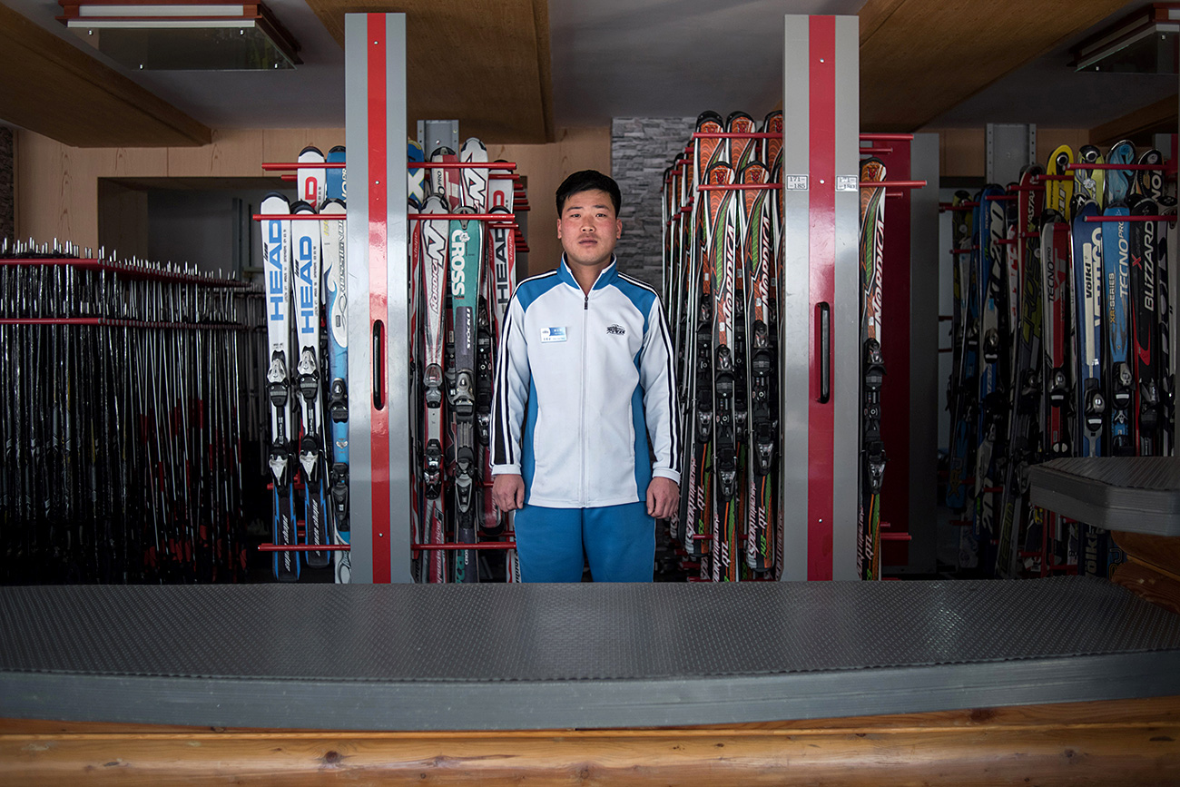 北朝鮮の馬息嶺(マシンニョン)スキー場、2017年2月20日=AFP