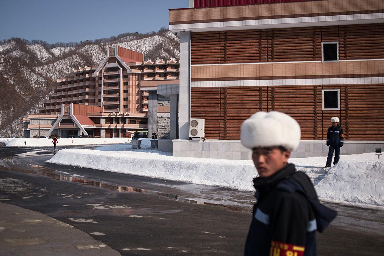 北朝鮮の馬息嶺(マシンニョン)スキー場=AFP