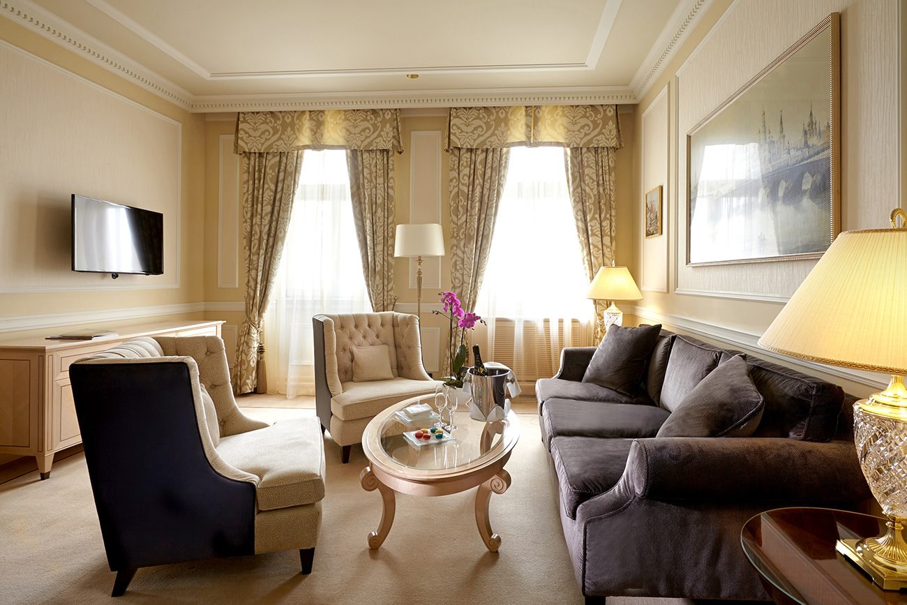 リビングルーム=Hotel Baltschug Kempinski
