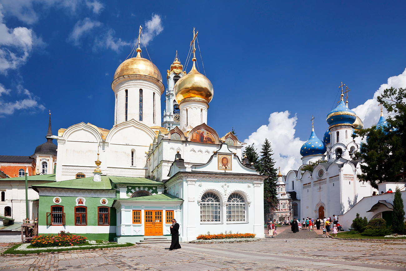 "He took part in the restoration of the ancient Trinity Lavra of St. Sergius in Sergiev Posad, Russia's ""religious capital"" not far from Moscow."