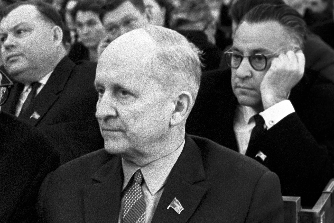 Scientist Pavel Sukhoi at the 5th session of the Supreme Soviet of the USSR, Moscow.