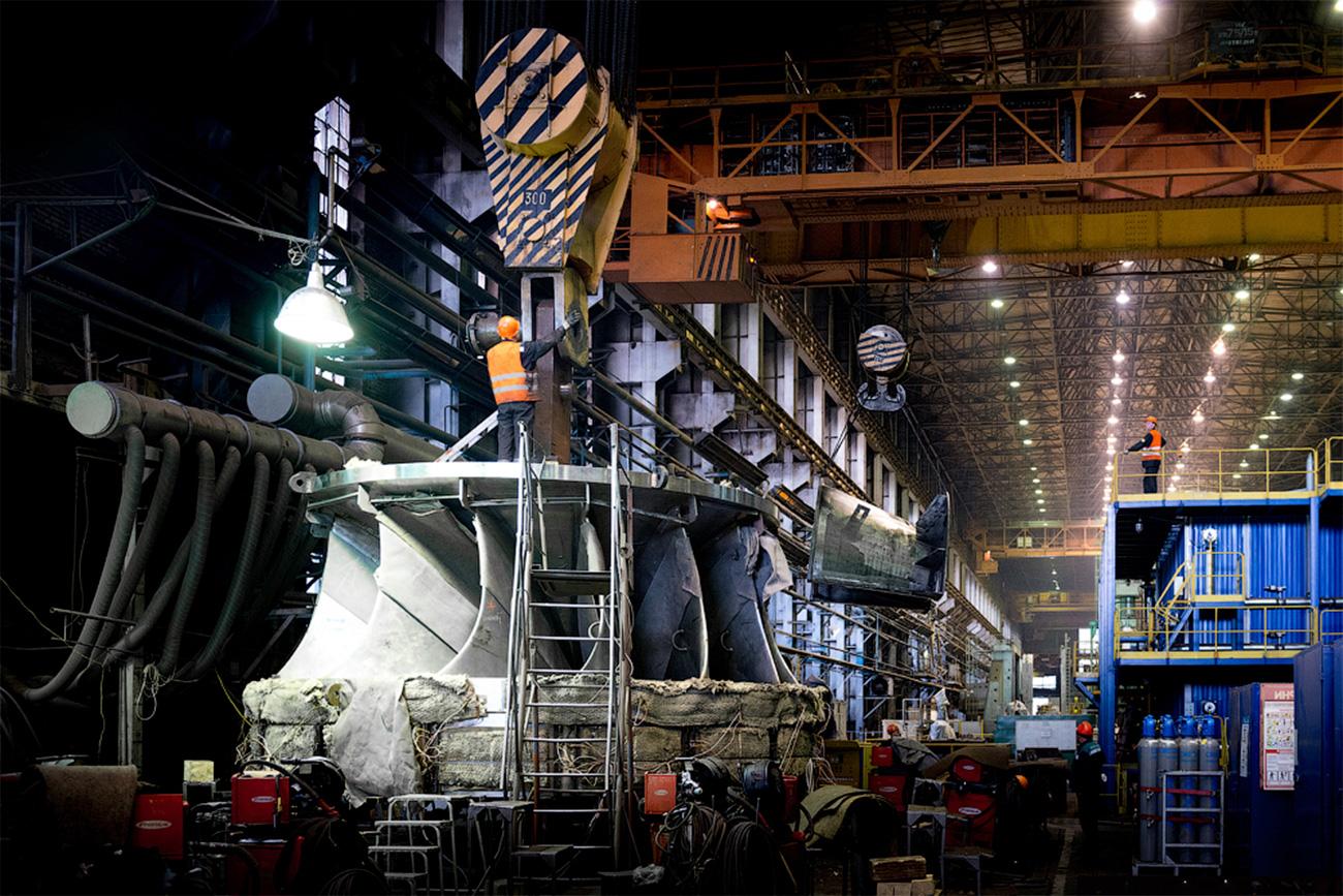 Les unités qui fabriquent les turbines à eau.