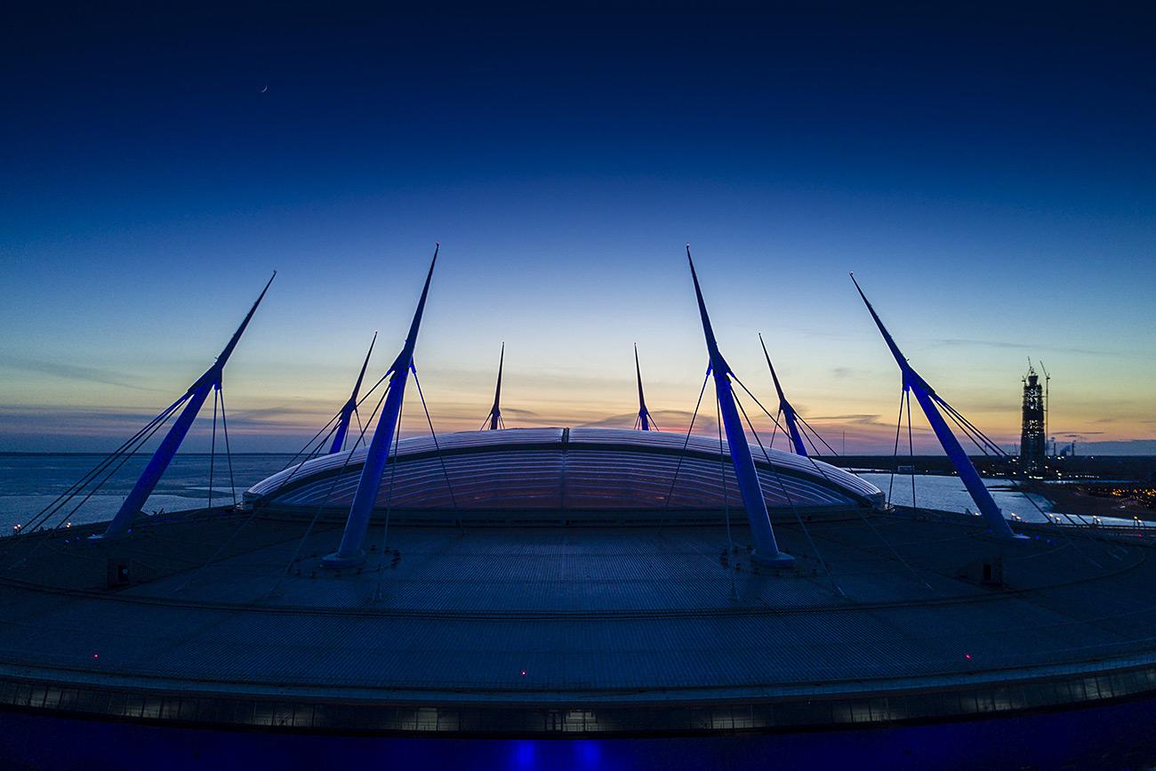 St. Petersburg stadium on Krestovsky Island\n