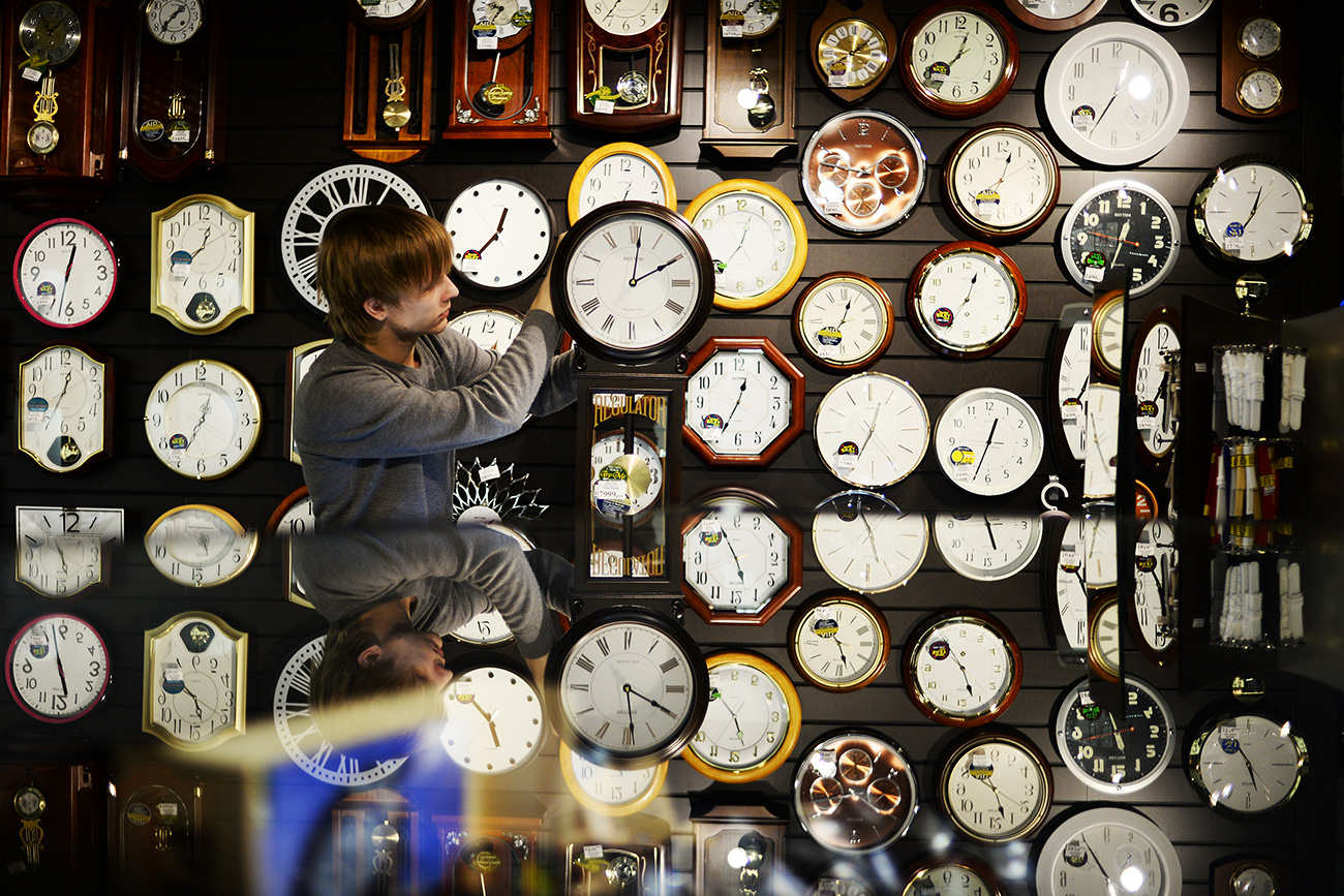 Clocks in a store
