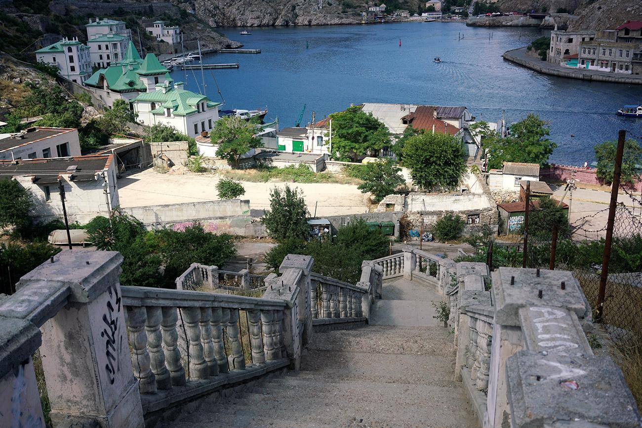 La Bahía de Balaclava, Crimea.
