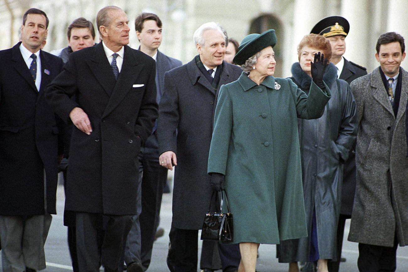 La regina del Regno Unito di Gran Bretagna e Irlanda del Nord Elisabetta II in visita ufficiale a San Pietroburgo. Fonte: Aleksej Varfolomeev/RIA Novosti