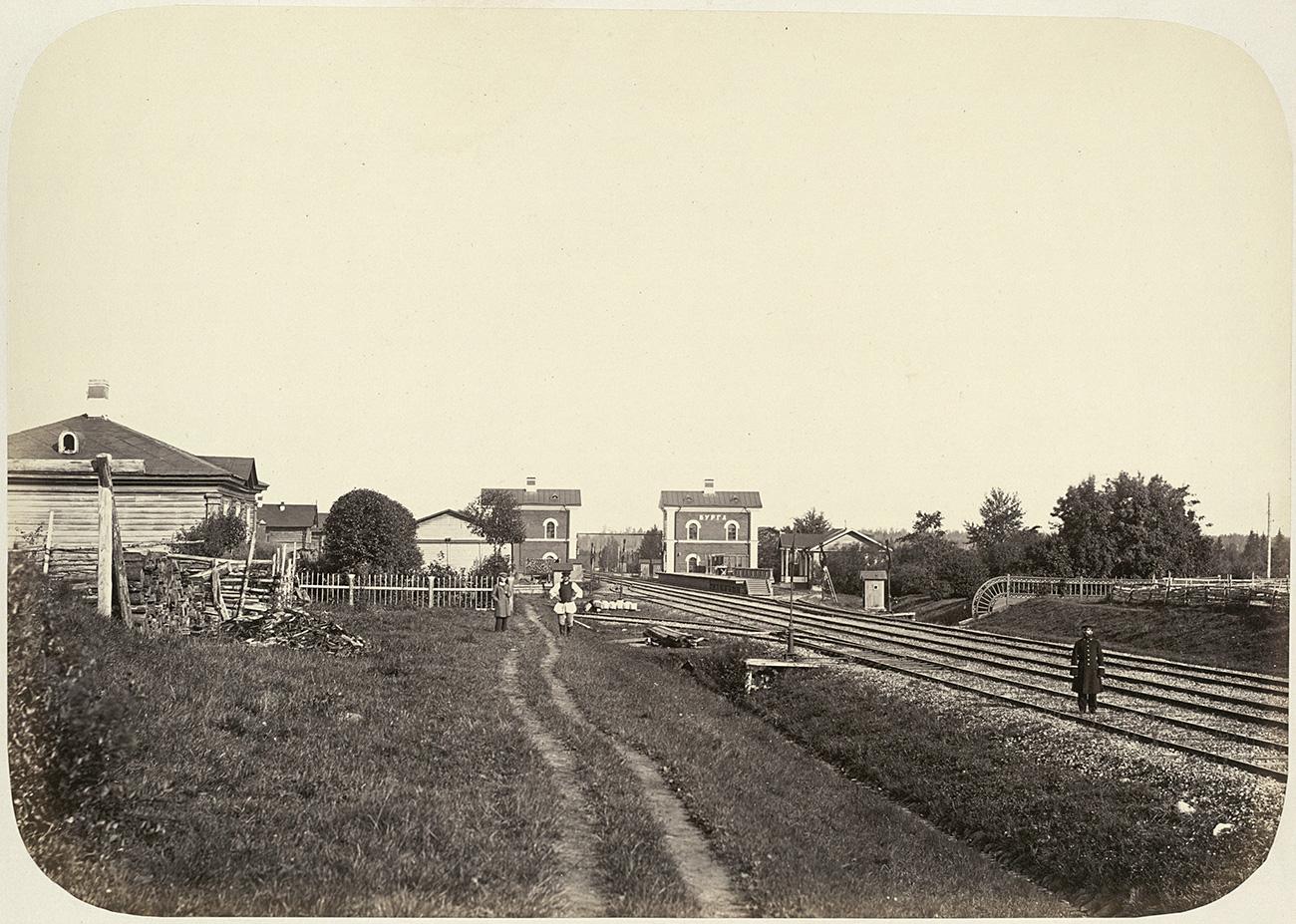 Rel kereta pertama Rusia, tahun 1862. Sumber: AP