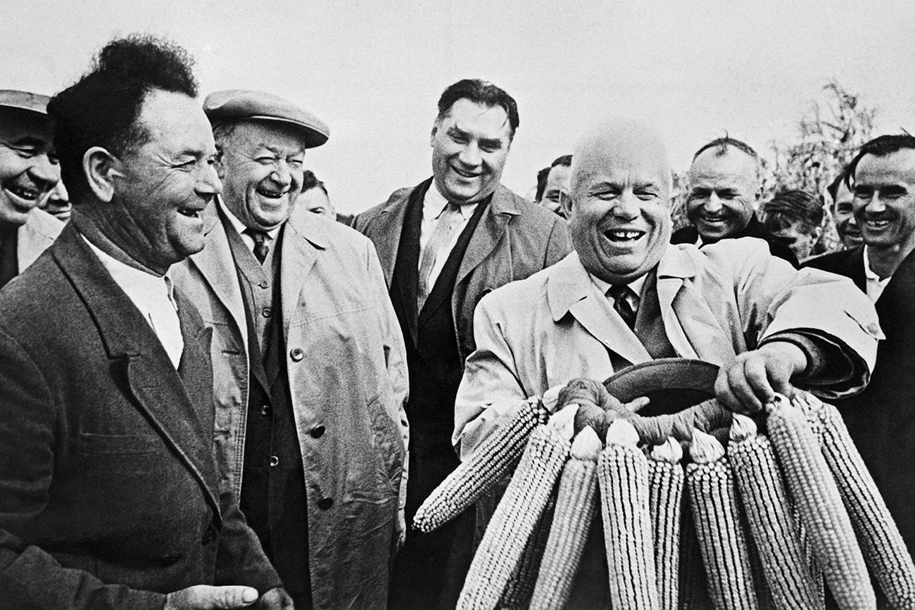 Nikita Jrushchov volvió obsesionado con el maíz tras su viaje a EE UU. Fuente: RIA Novosti