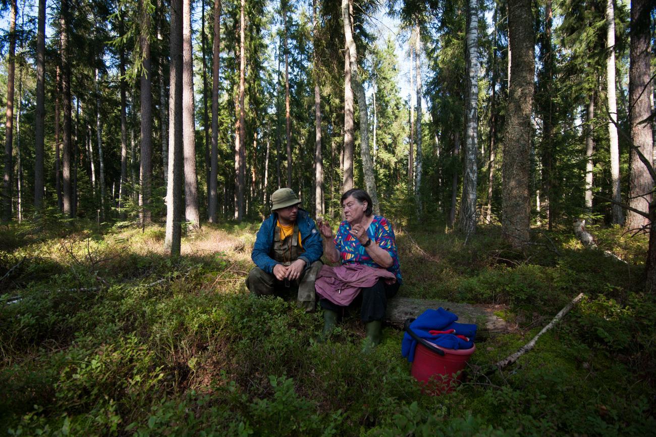 ボランティア捜索部隊が発見されたジナイダ・ゴルデエワさん=写真提供:「リザ・アラート」