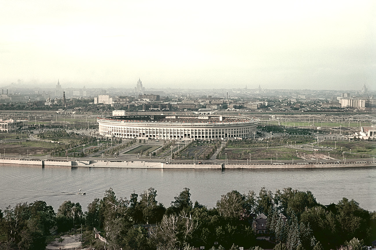 Luzhniki district in Moscow, 1956.