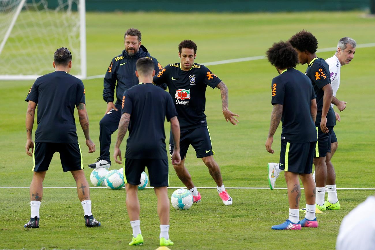 Brazilska nogometna reprezentanca na pripravah za kvalifikacije za SP 2018 - Montevideo, Urugvaj - 22.3.2017