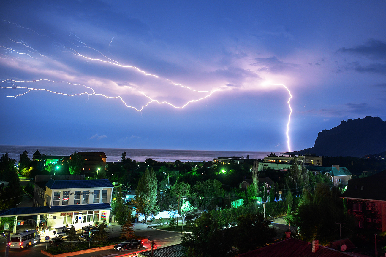 Thunderstorm in Koktebel.
