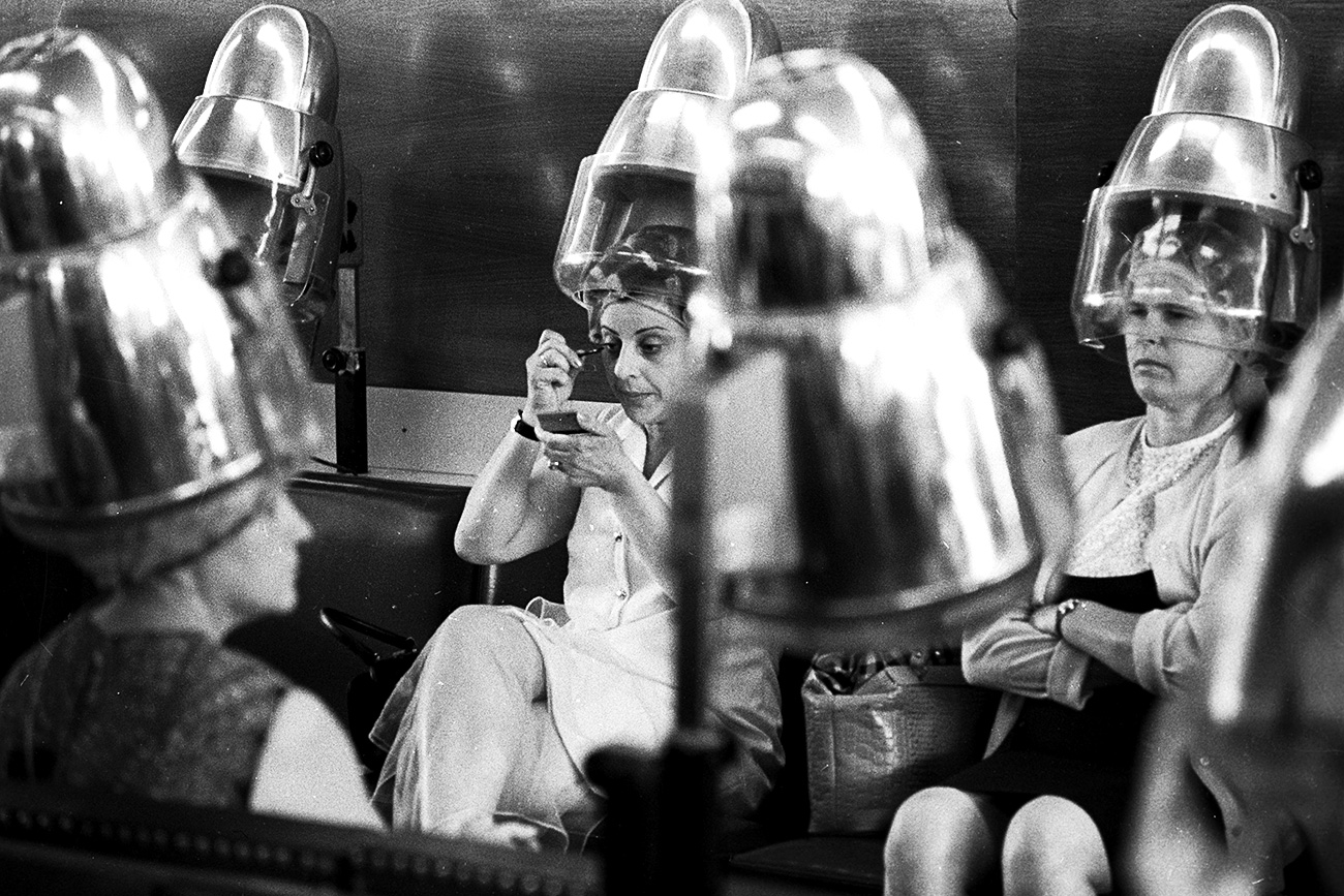 Hairdressing saloon Charodeika, Moscow. 1971