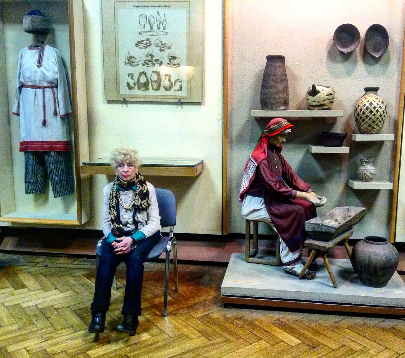 An attendant at the Russian Museum of Ethnography in St. Petersburg. Source: Elena Bobrova