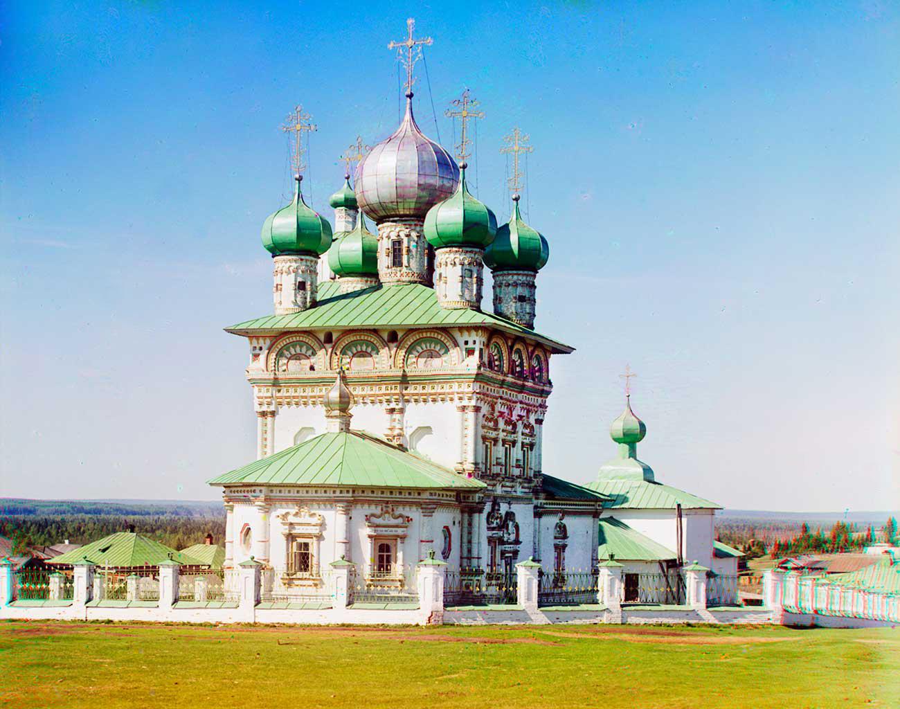 Nyrob. Church of St. Nicholas, northeast view. Photo: 1913 / Sergei Prokudin-Gorsky