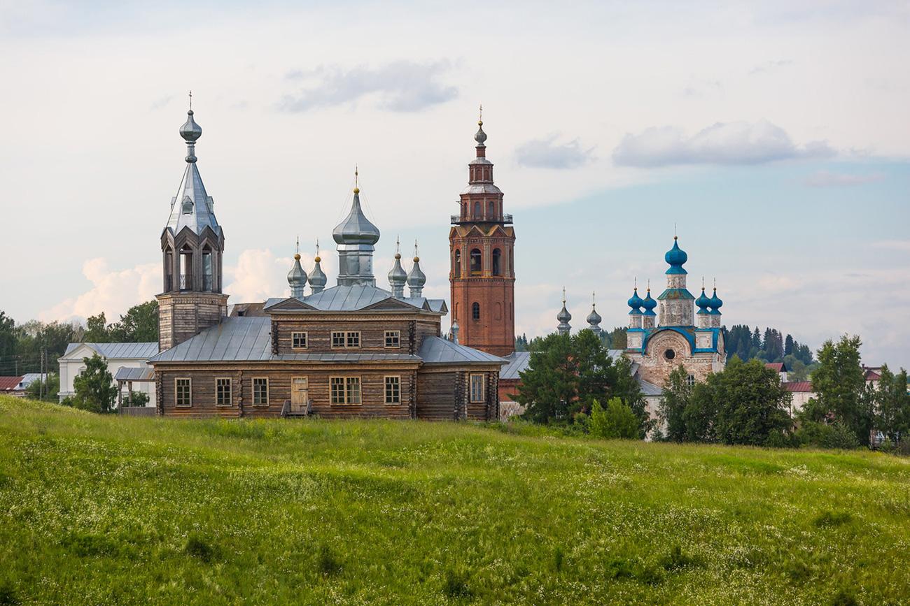 Cherdyn, una delle tante chiese di legno ottimamente conservate. Fonte: Oleg Vorobjov