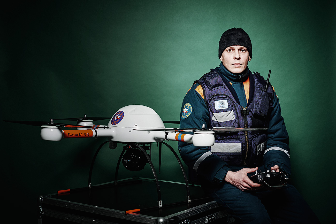 "Major Alexey Ishutin belongs to a family of professional soldiers, but at the Leader Center he is responsible for operating drones. Among his tasks is observing crash sites and disaster zones, searching for survivors.Ishutin believes that his profession is one for the future. ""My job is a developing and perspective area, that's my favorite activity,"" he says."