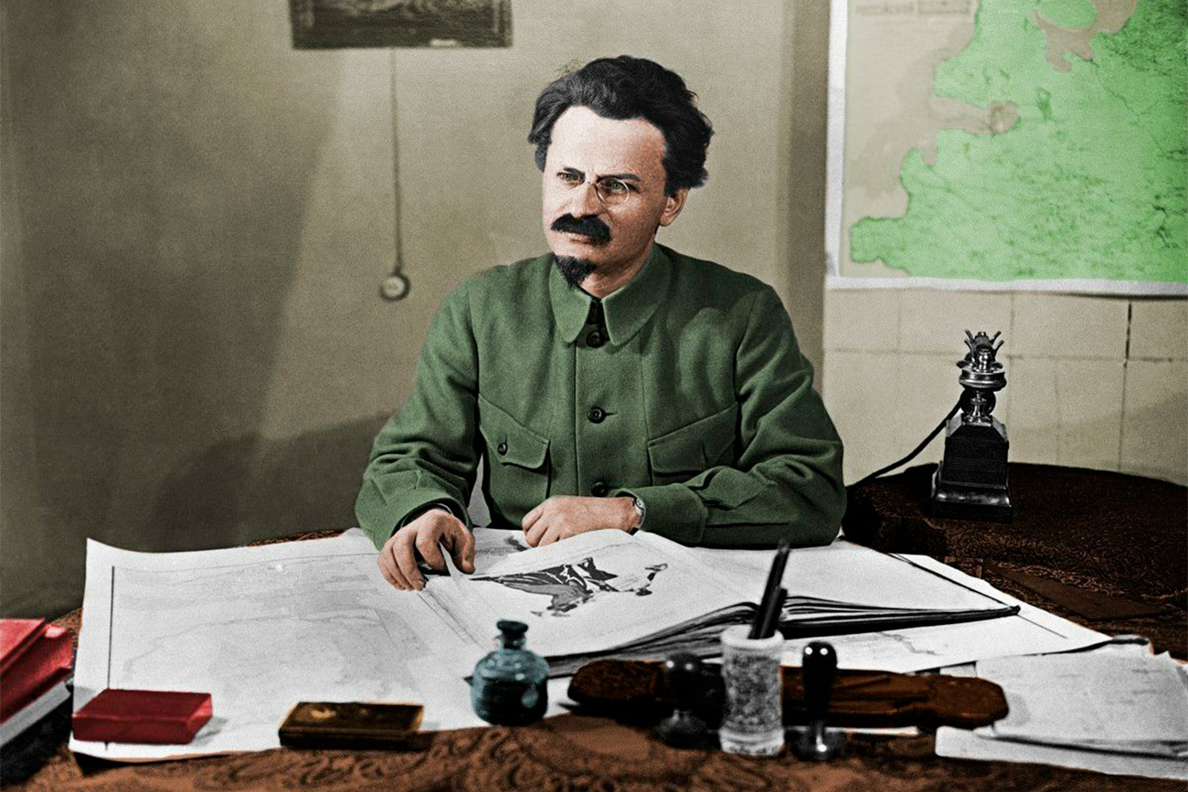 Soviet politician Leon Trotsky.
