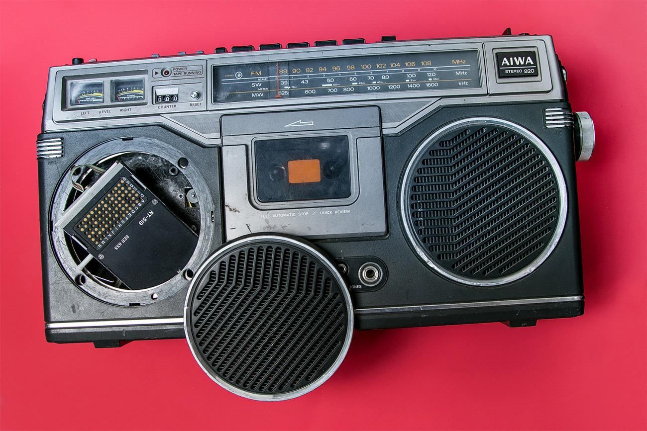 Um transmissor colocado em um rádio toca-fitas Foto:Ilya Ogarev