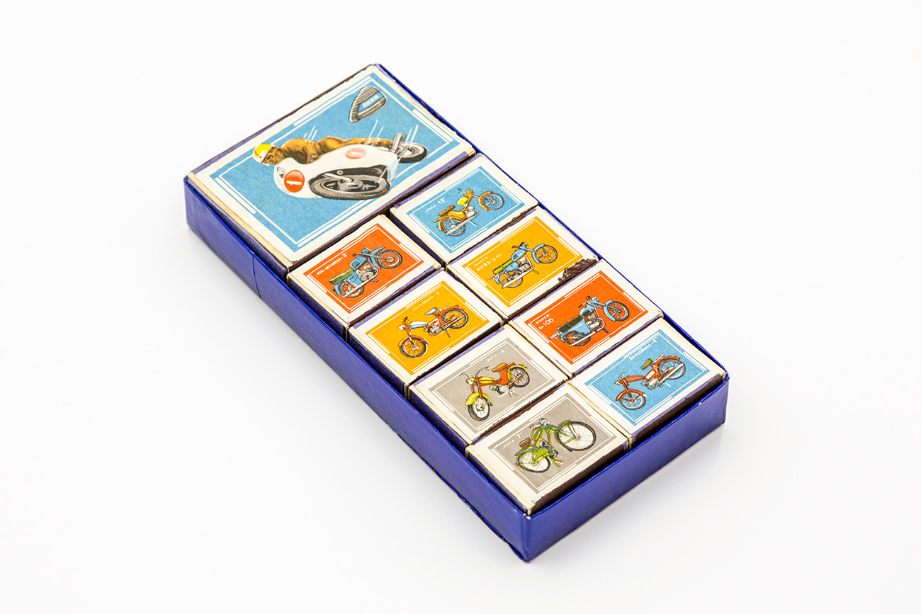 Matchboxes with images of various Soviet motorcycles / Igor Rodin