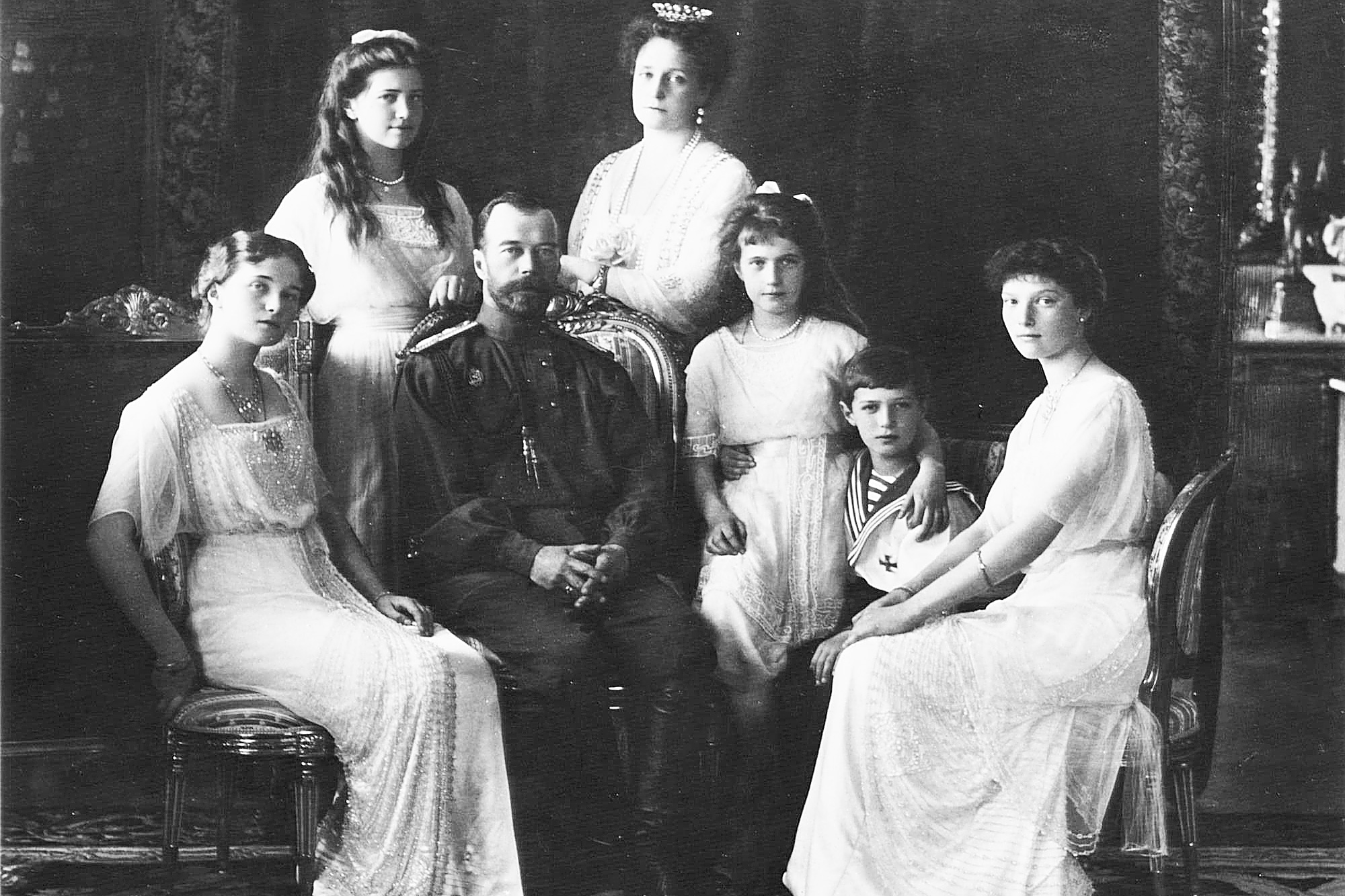 Nicholas II with family