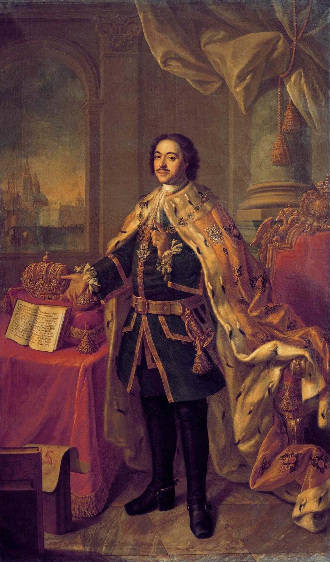 Петър Велики. Худ. Алексей Антропов (1716-1795)