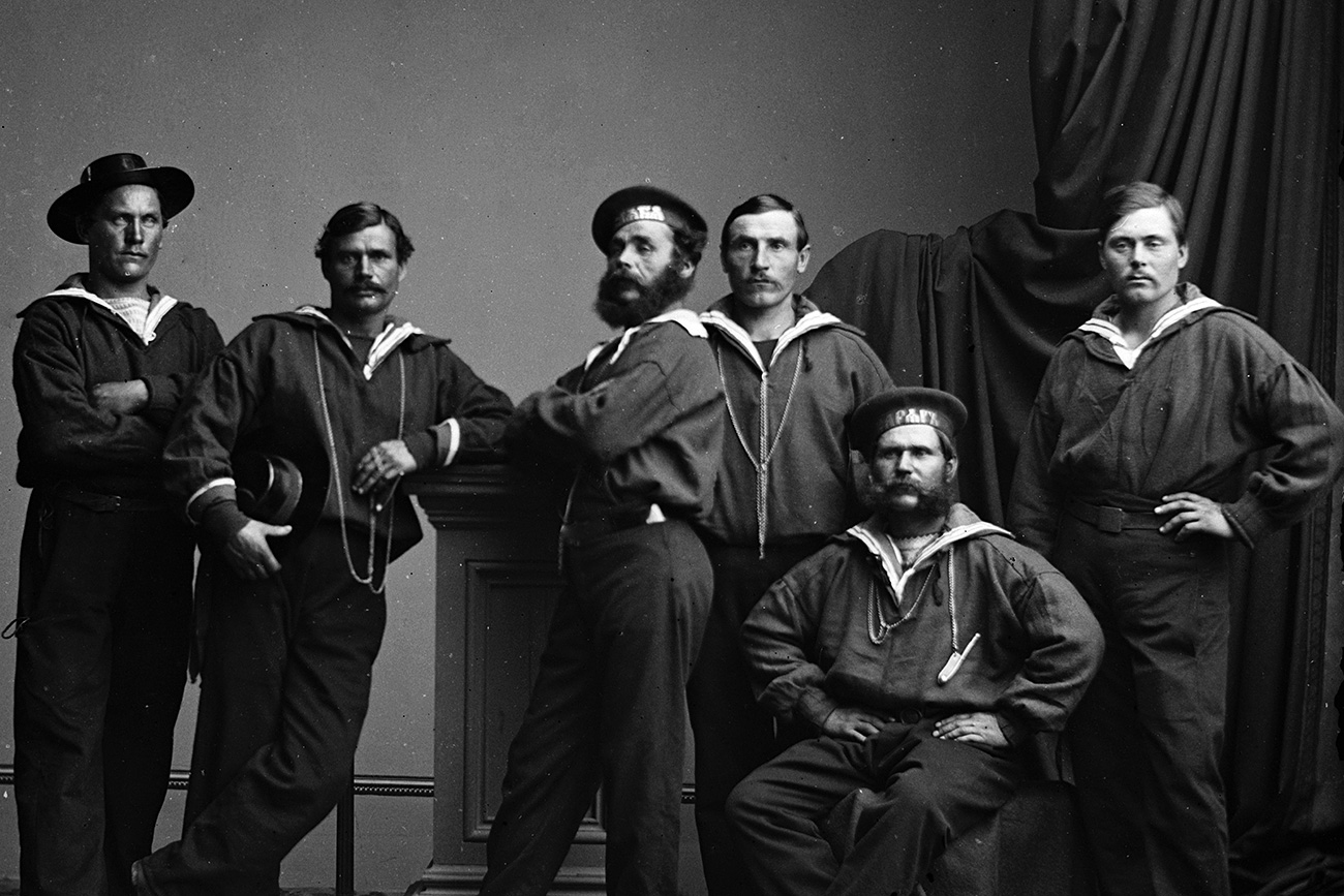 Russian sailors who were part of a naval expedition sent to the United States in mid 1863, returning to Russia in 1864. The Federal government treated the visit as supporting the Union cause in the American Civil War.