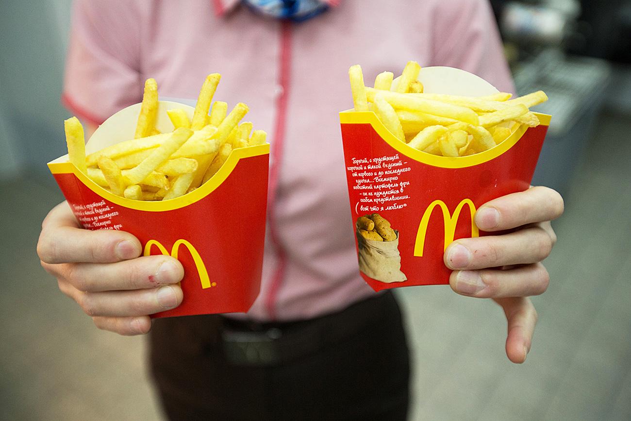 McDonald's funcionará na Rússia apenas com ingredientes do próprio país