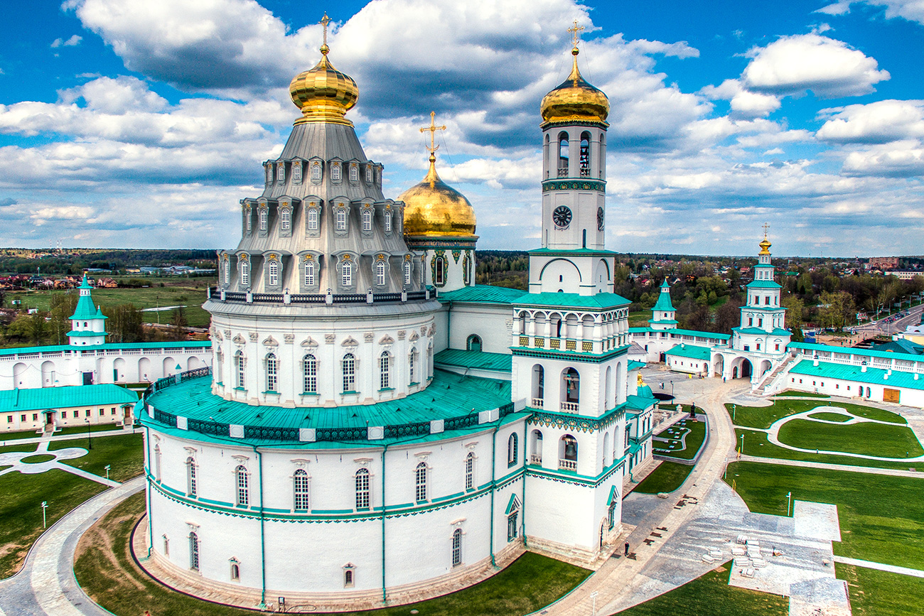 Gorgeous New-Jerusalem monastery in Russia