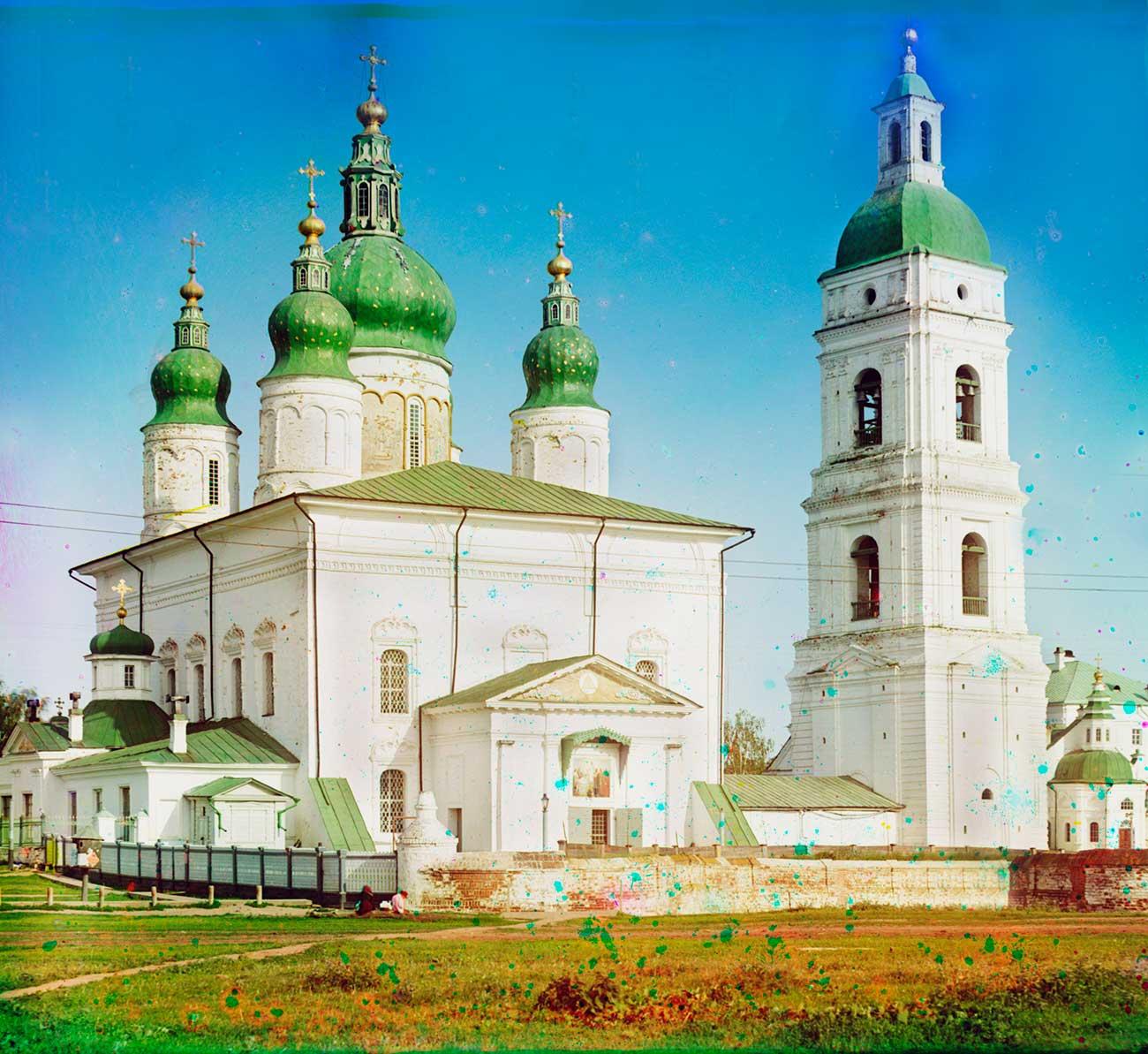 La Cattedrale di Santa Sofia della Dormizione, Tobolsk. Foto scattata nel giugno 1912. Fonte: Prokudin-Gorskij