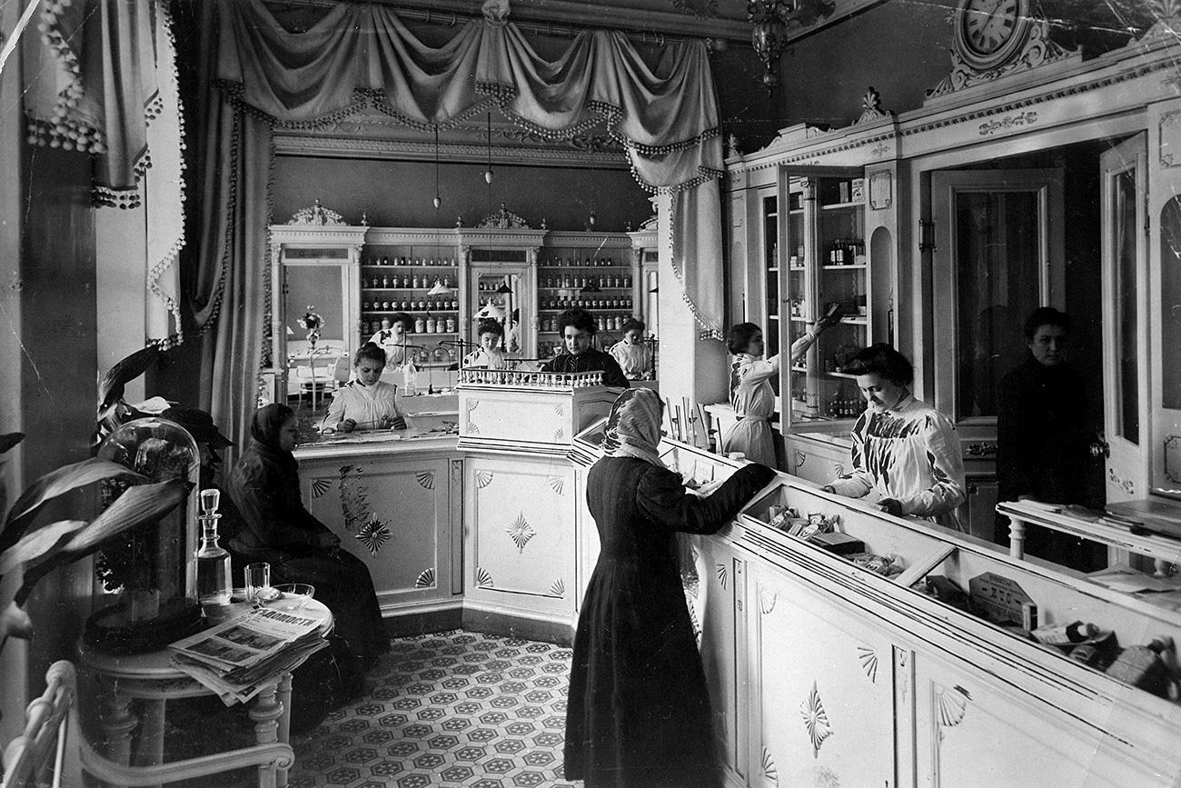 Une pharmacie de Saint-Pétersbourg. Crédit: Getty Images