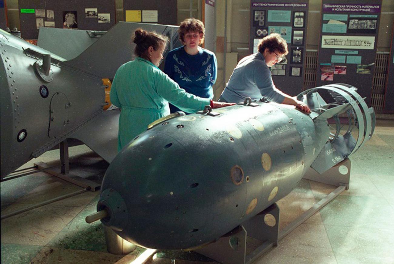 """La bomba nuclear RDS-4 """"Tatiana""""."""