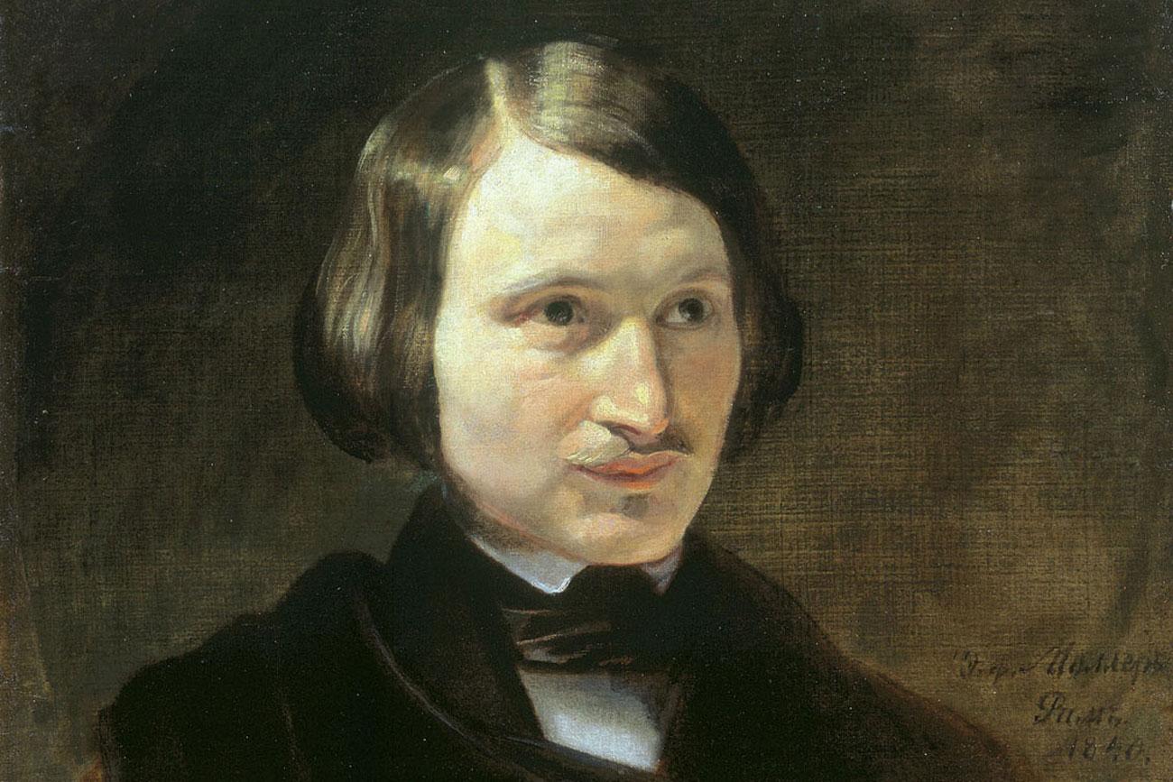 Retrato de Nikolai Gogol por Fyodor Moller