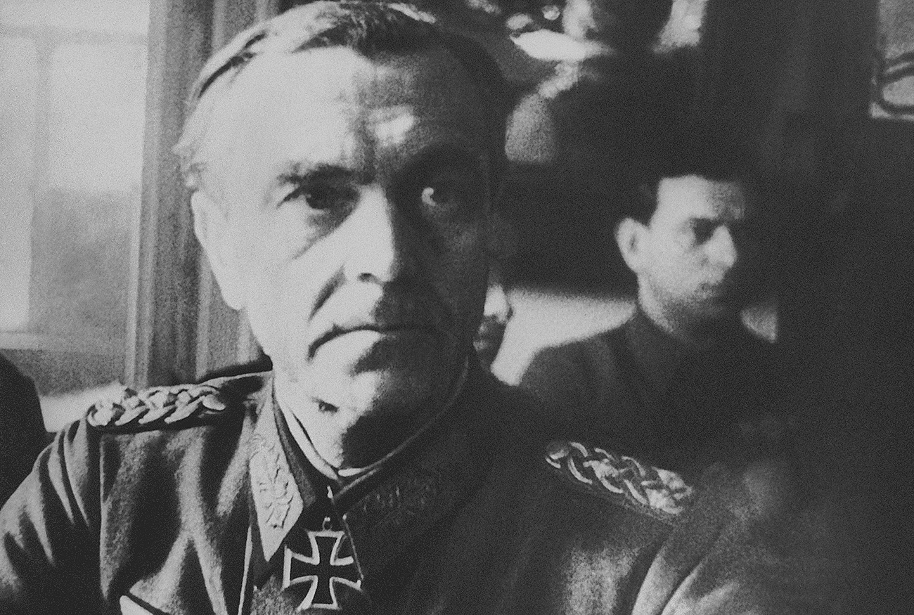 Germany's Field Marshal Friedrich Paulus at Red Army Headquarters for interrogation at Stalingrad, Russia, on March 1, 1943.