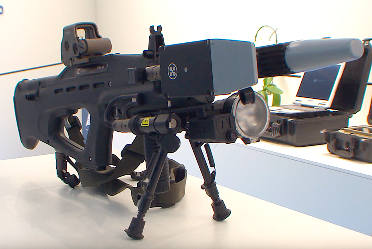Russian Weapons Manufacturer Kalashnikov Demonstrated Its REX 1 Anti Drone Gun At The International