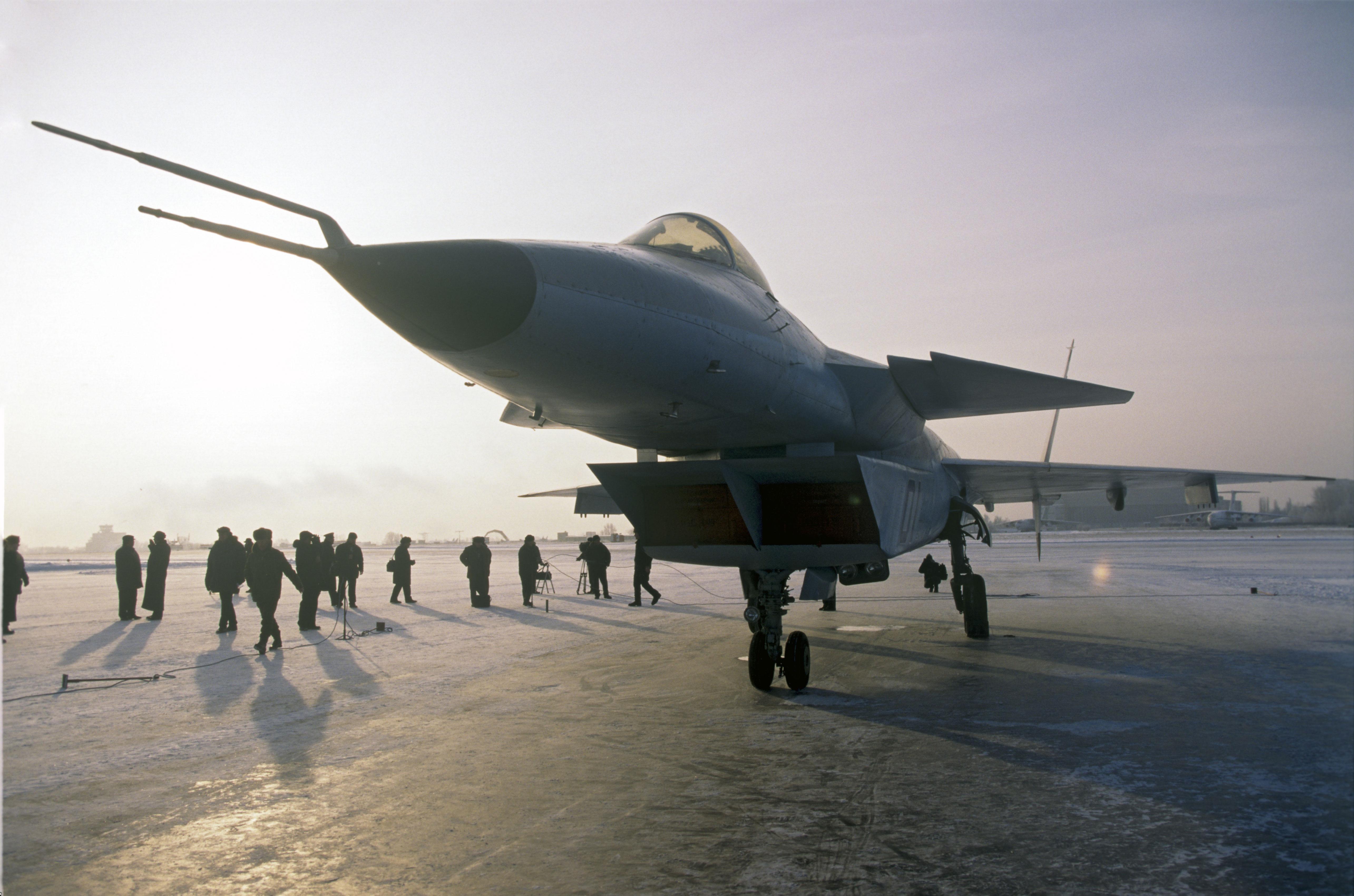 """Единственият екземпляр на МиГ 1.44, който дълго време се  намираше в ЛИИ """"М.М.Громов"""" в град Жуковски, беше законсервиран през 2013 година."""