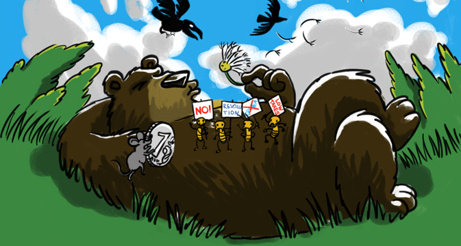 bear Russia avoids revolution again