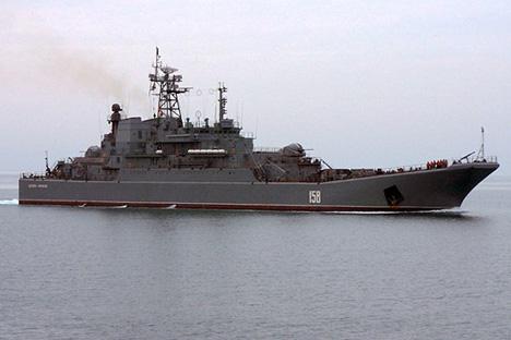 Russian landing ship Caesar Kunikov.