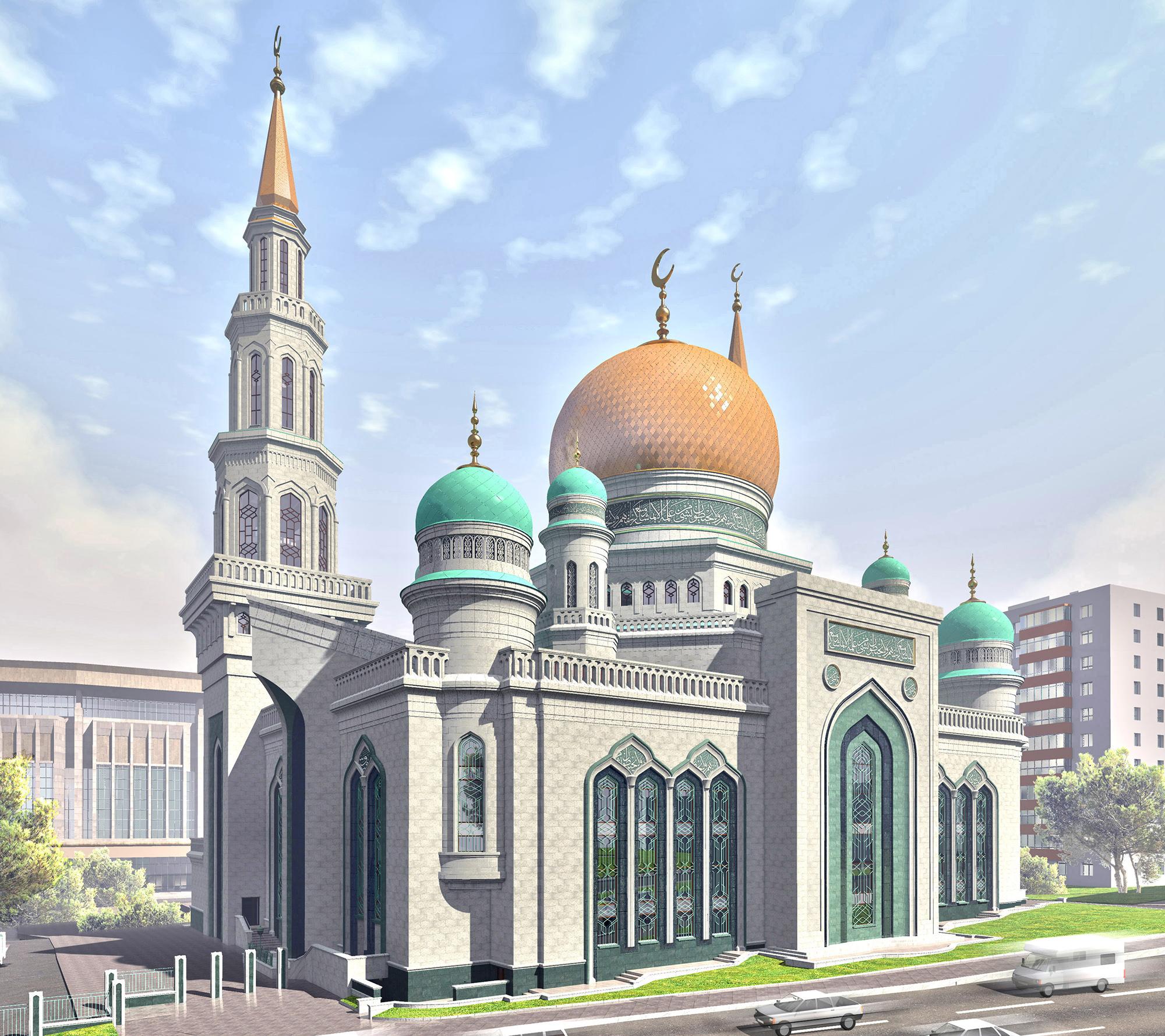 Джамията е обзаведена със седем асансьора, с климатици и с оборудване за хора с ограничени възможности.