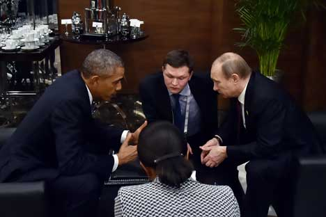 In mid-NovemberPresident VladimirPutin met with U.S.President BarackObama on the sidelinesof the G20summit in TurkishAntalya.