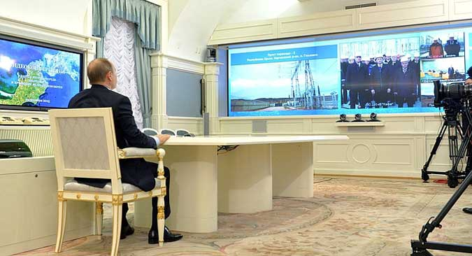 A teleconference with Feodosia.