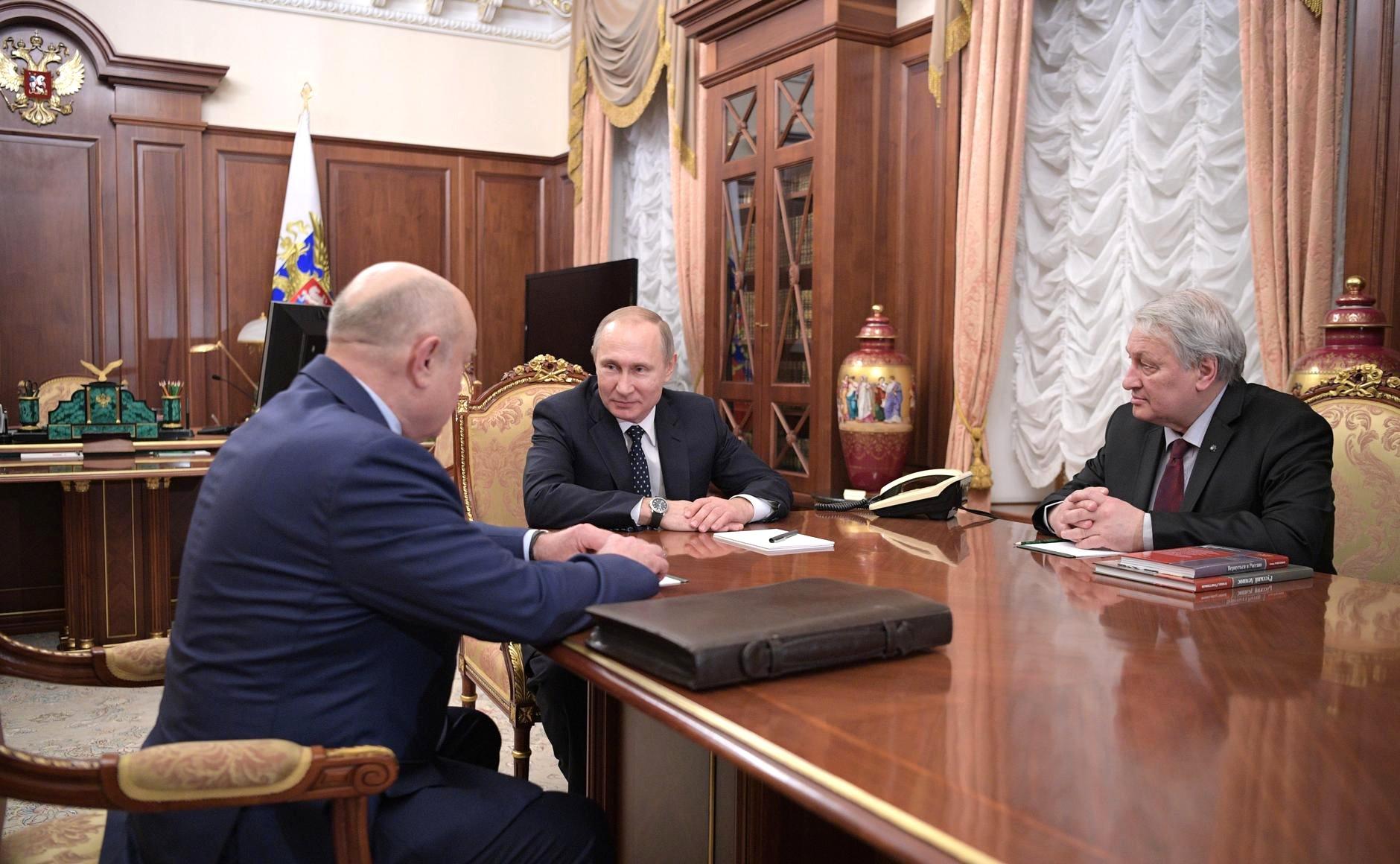 Михаил Фрадков, Владимир Путин и Леонид Решетников