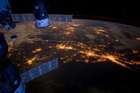Earth: a view from the ISS. Source: Press photo
