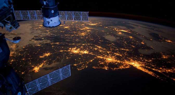 Земята от Международната космическа станция.